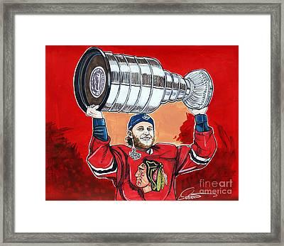 Patrick Kane Stanley Cup Champion 2015 Framed Print
