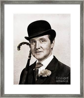 Patrick Macnee, Vintage Actor By John Springfield Framed Print