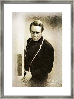 Patrick Mcgoohan, Vintage Actor By John Springfield Framed Print
