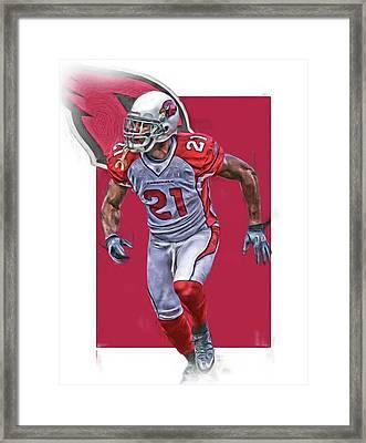 Patrick Peterson Arizona Cardinals Oil Art Framed Print by Joe Hamilton