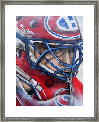Patrick Roy ... Framed Print by Juergen Weiss