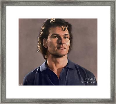 Patrick Swayze Framed Print