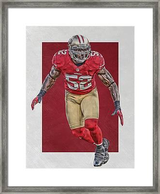 Patrick Willis San Francisco 49ers Art Framed Print by Joe Hamilton