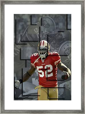 Patrick Willis San Francisco 49ers Blocks Framed Print by Joe Hamilton