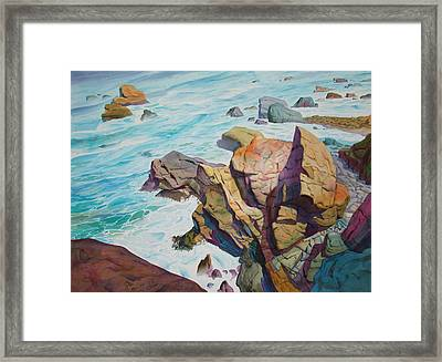 Framed Print featuring the painting Patricks Point by John Norman Stewart