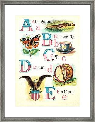 Patriot  Abc Book Page 3 Framed Print by Reynold Jay