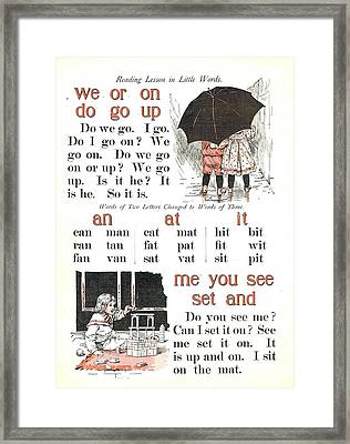 Patriot Abc Book Page Five Framed Print by Reynold Jay