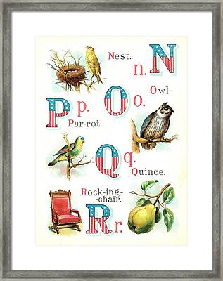 Patriot Abc Book Page Eight Framed Print by Reynold Jay