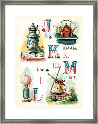 Patriot Abc Book Page Seven Framed Print by Reynold Jay