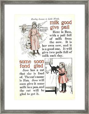 Patriot Abc Book  Page Thirteen Framed Print by Reynold Jay