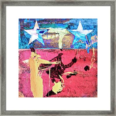 Framed Print featuring the painting Patriot Act by Dominic Piperata