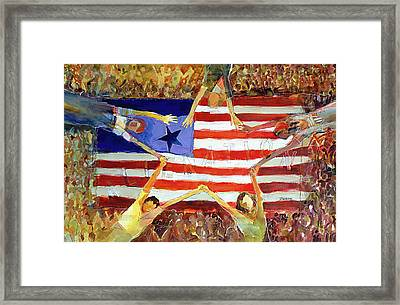 Patriot Act Framed Print by Jen Norton