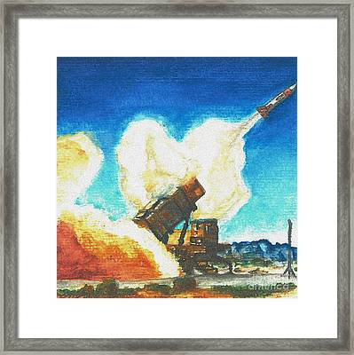 Patriot Fire Framed Print by Erin Smith