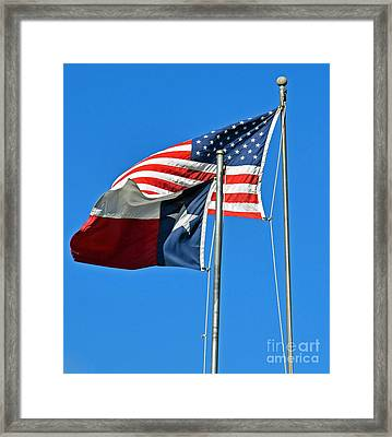 Patriot Proud Texan  Framed Print