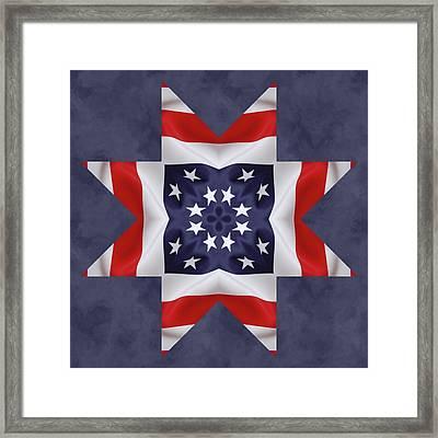 Patriotic Star 2 Framed Print