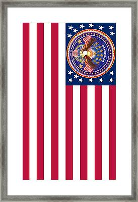Patriotic America Print And Case Only Framed Print