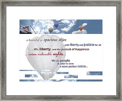 Patriotic Art I Framed Print