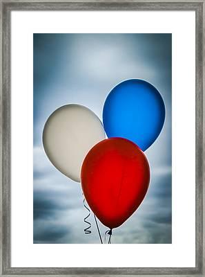 Patriotic Balloons Framed Print by Carolyn Marshall