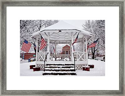 Patriotic Bandstand Framed Print by Susan Cole Kelly