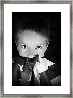 Patriotic Boy Framed Print