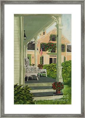 Patriotic Country Porch Framed Print
