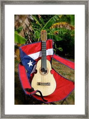 Patriotic Cuatro Framed Print by The Art of Alice Terrill