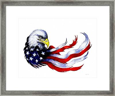 Patriotic Eagle Signed Framed Print by Andrew Read