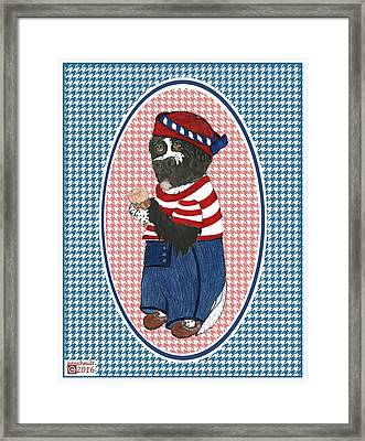 Patriotic Finny The Newf Framed Print
