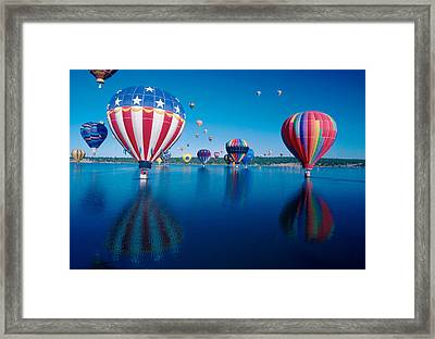 Patriotic Hot Air Balloon Framed Print