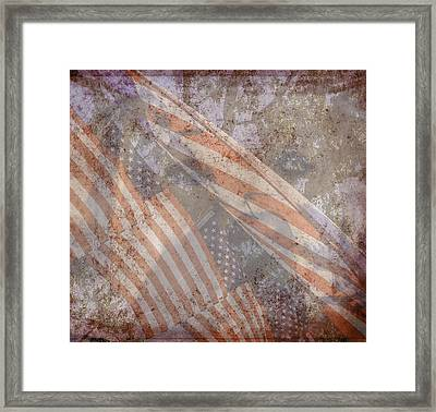 Patriotic Lab Framed Print