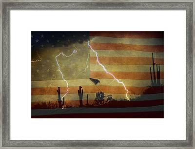 Patriotic Operation Desert Storm Framed Print by James BO  Insogna