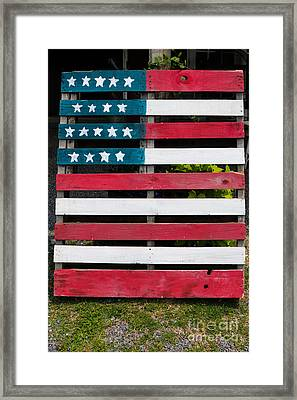Patriotic Pallets Framed Print by Thomas Marchessault
