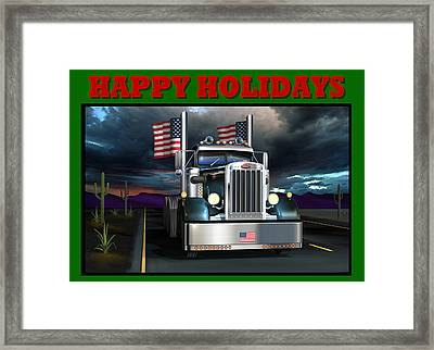 Patriotic Pete Happy Holidays Framed Print by Stuart Swartz
