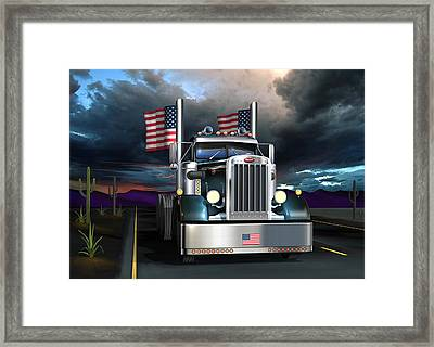 Patriotic Pete Framed Print