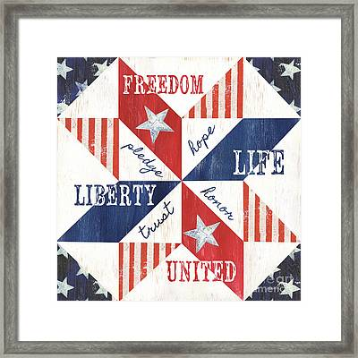 Patriotic Quilt 1 Framed Print