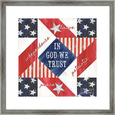 Patriotic Quilt 2 Framed Print