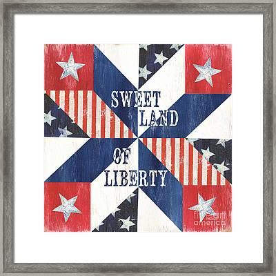Patriotic Quilt 3 Framed Print