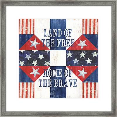 Patriotic Quilt 4 Framed Print