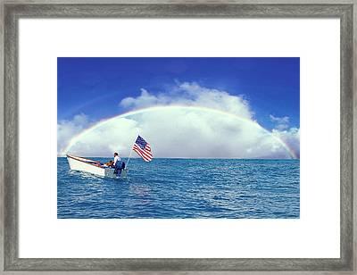 Patriotic Rainbow Framed Print