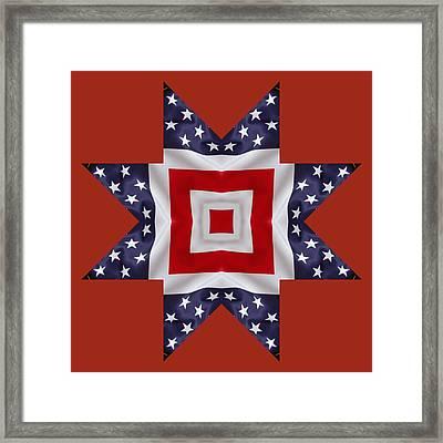 Patriotic Star 1 - Transparent Background Framed Print by Jeff Kolker