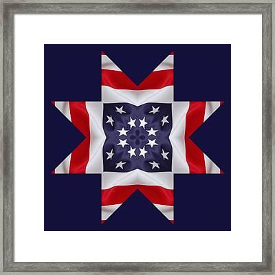 Patriotic Star 2 - Transparent Background Framed Print