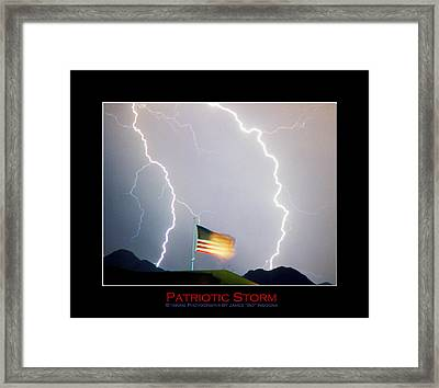 Patriotic Storm - Poster Print Framed Print by James BO  Insogna