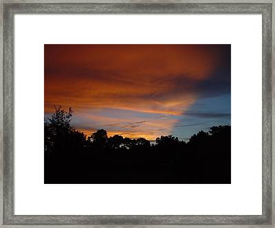 Framed Print featuring the photograph Patriotic Sunset by Kerry Beverly