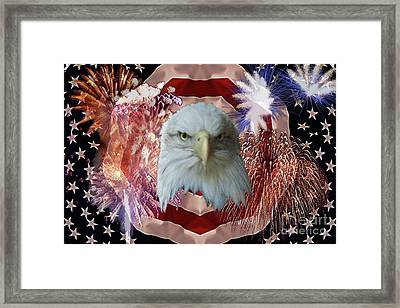 Patriotic Tribute Framed Print by Ken Frischkorn