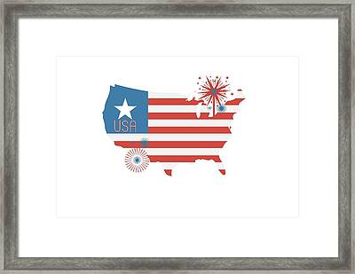 Patriotic Usa Framed Print by Chastity Hoff