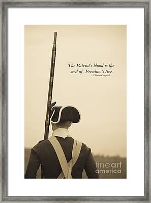 Patriots Blood Memorial Day Framed Print
