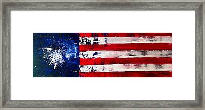 Patriot's Theme Framed Print