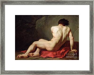Patrocles Framed Print by Jacques Louis David