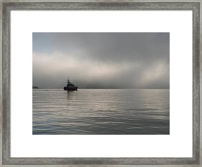 Patrol Framed Print by Mark Alan Perry
