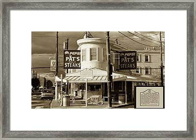 Pat's King Of Steaks - Philadelphia Framed Print by Bill Cannon
